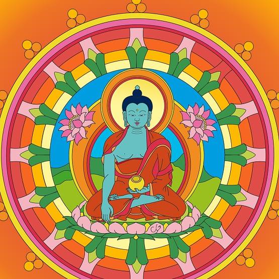 bouddha medecine zoom